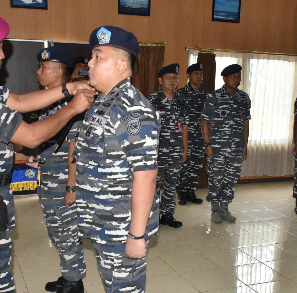 Komandan LANTAMAL XII Pontianak Pimpin Serah Terima Jabatan Komandan Satuan Keamanan Laut LANTAMAL XII Pontianak
