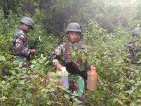 Ratusan Liter Berbagai Jenis BBM Diamankan Satgas Yonif Raider 641/Bru
