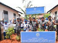 Korcab XII DJAB Dukung Ketahanan Pangan Nasiona Dengan Melaksanakan Gerakan Tanam Bersama Di Komplek TNI AL
