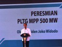 Peresmian PLTG Oleh Presiden Ir . H. Joko Widodo, Dihadiri Danlantamal XII Pontianak