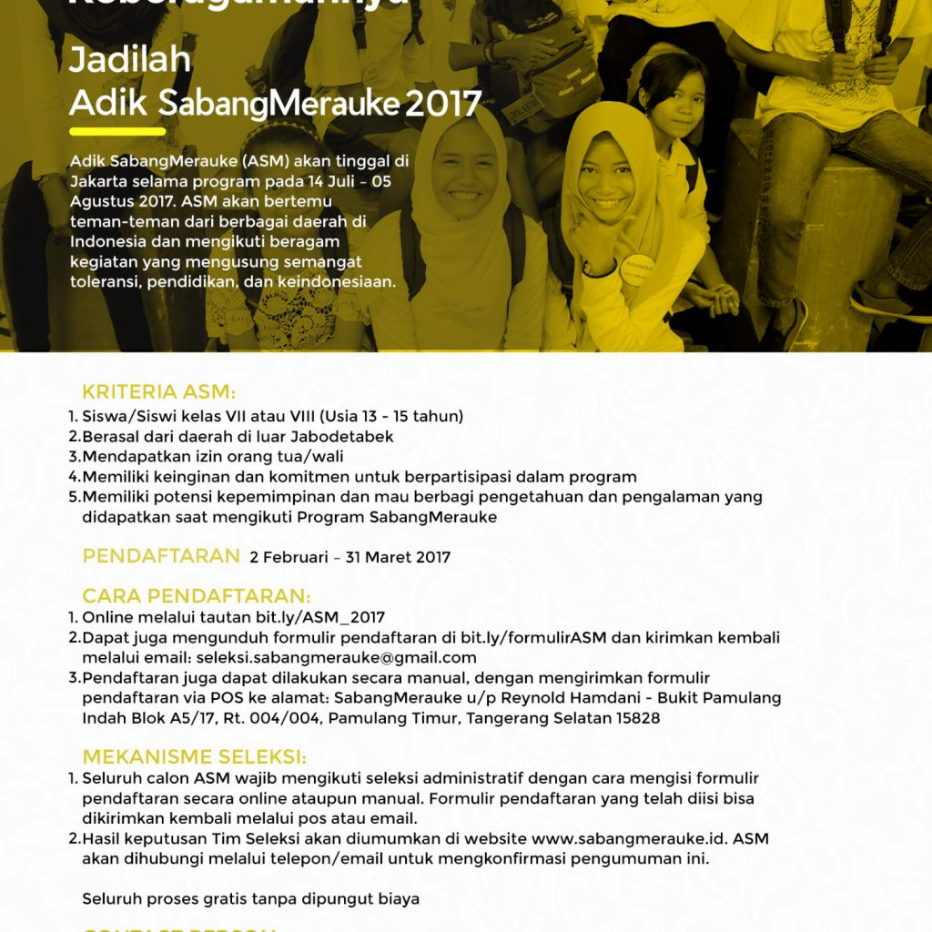 Pendaftaran Peserta SabangMerauke 2017 Telah Dibuka