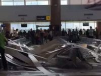Plafon Bandara Supadio Ambruk Lagi