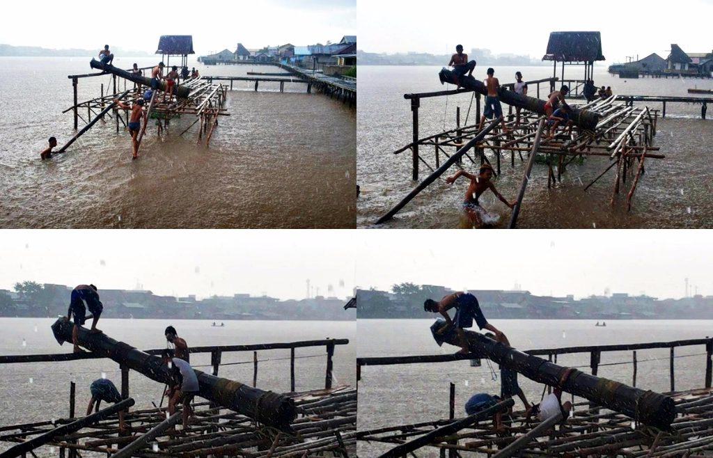 Hujan, Angin, dan Guntur, Tak Surutkan Semangat Anak-anak Muda Ini