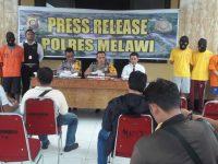 Polres Melawi Berhasil Amankan Enam Orang Terduga Kasus Perjudian