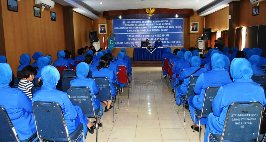 Tatap Muka Pembina Korcab XII Dengan Anggota  Jalasenastri Dalam Rangka Hut Ke-71 Jalasenastri  Tahun 2017