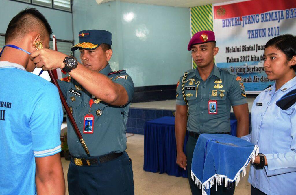 DANLANTAMAL XII PONTIANAK MEMBUKA KEGIATAN BINTAL JUANG REMAJA BAHARI TNI ANGKATAN LAUTTAHUN 2017