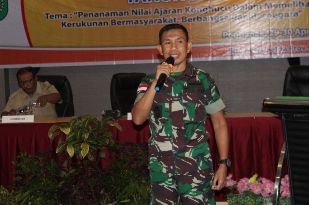 Aster Kasdam XII/Tpr Jadi Narasumber pada Rakor Pembinaan Agama Konghucu Tahun 2019