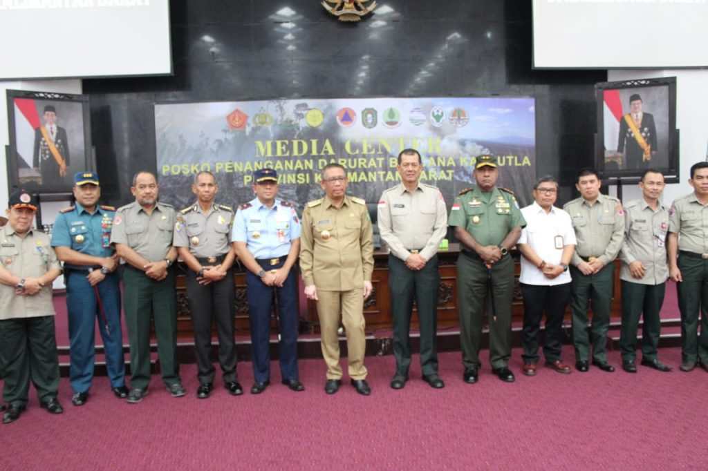 Kepala BNPB Bersama Forkopimda Kalbar Gelar Rakoor Penanganan Karhutla