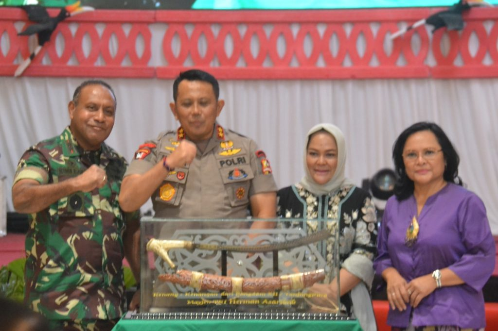 Kenal Pamit Kapolda Kalteng, Pangdam XII/Tpr Harapkan Hubungan TNI-Polri Makin Solid