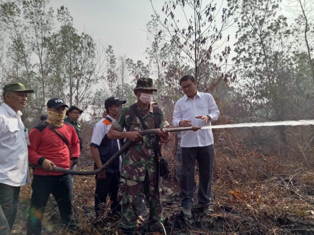 Pembakaran Lahan Dilakukan Sistematis, BRG Bantu Satgas Padamkan Api