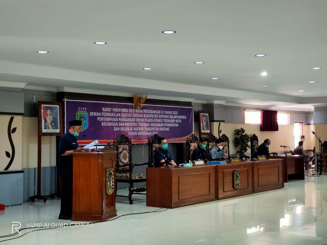 Pandangan Umum Fraksi Amanat Persatuan Dalam Rapat Paripurna ke-8 Masa Persidangan III