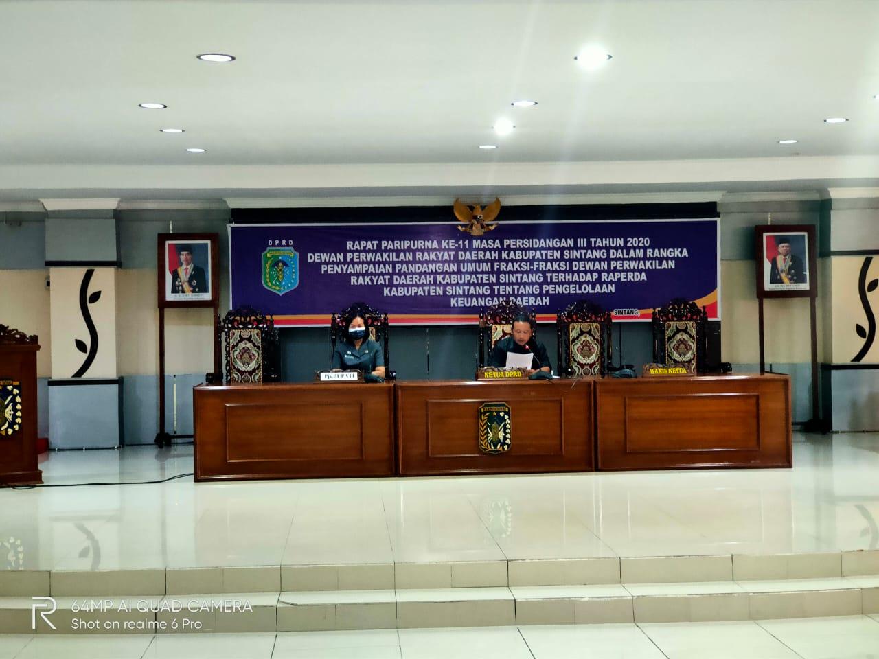 Rapat Paripurna DPRD Kabupaten Sintang Ke-11