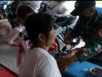 Satgas Yonif 642/Kps berikan Layanan Kesehatan kepada Masyarakat