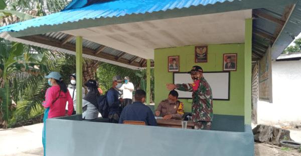Koramil Sejangkung Canangkan Satgas Desa Tangkal Covid-19 di Perbatasan RI-Malaysia
