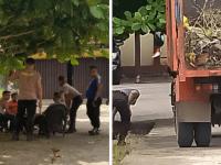 Kapolsek Aiptu Herianto, Pimpin Giat Korve Lingkungan Mapolsek kota Nanga Pinoh