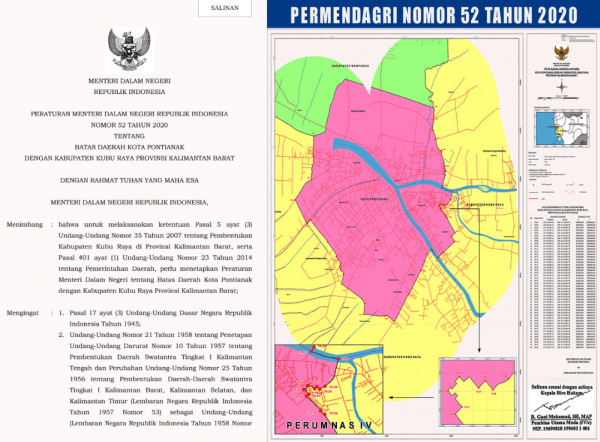 Permendagri No. 52/2020 Sudah Final Perumnas IV Wilayah Kubu Raya, Apalagi yang Mau Dikaji ?