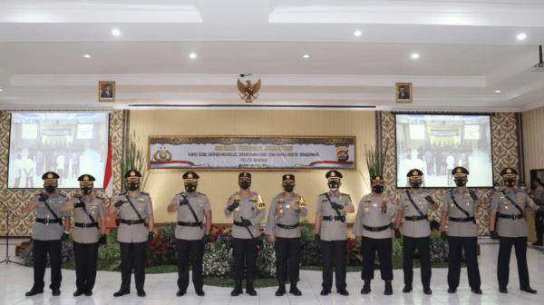 Kapolda Pimpin Sertijab PJU Polda Banten Dengan Prokes Yang Ketat