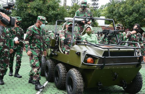 Pangdam III/Slw Uji Coba Kendaraan Hasil Inovasi Prajurit Paldam