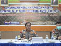 Kapolda Kalbar Dengarkan Langsung Paparan Rencana Penggunaan Anggaran 2021 Polres Sanggau dan Polsek Jajaran