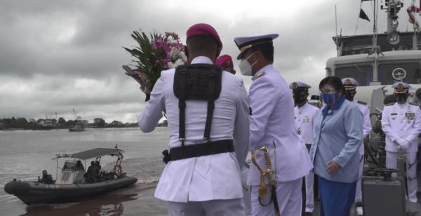 Peringati Hari Dharma Samudera Tahun 2021 Danlantamal XII gelar Upacara Tabur bunga