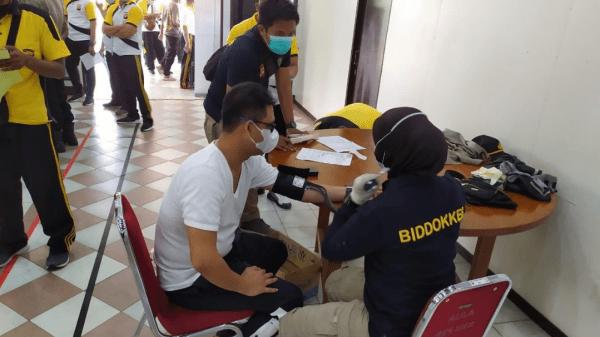 Personil Polres Kubu Taya Laksanakan Pemeriksaan Kesehatan Berkala
