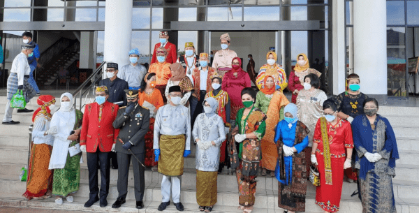 KOMANDAN LANTAMAL XII HADIRI UPACARA PERINGATAN HARI ULANG TAHUN KE-64 PROVINSI KALIMANTAN BARAT TAHUN 2021
