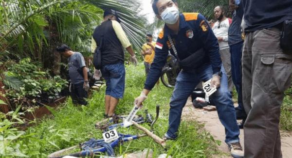 Warga Desa Madusari Digegerkan dengan Temuan Mayat Perempuan di Parit, ini yang dilakukan polisi