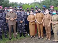 Ucapan Terimakasih Bupati Bengkayang, Akhiri Tugas Mulia Prajurit Samudera Lantamal XII di Desa Lesa Bela, Kalimantan Barat