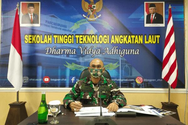 Komandan STTAL Hadiri Rakor dan Rakernis Potmar 2021
