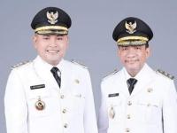Serah Terima Jabatan Bupati Melawi H Dadi Sunarya Usfa Yursa dan Wakil Bupati Drs Kluisen di Pondopo