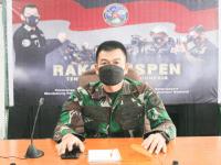 Wakapendam XII/Tpr Ikuti Rakernispen TNI Tahun 2021 Secara Virtual
