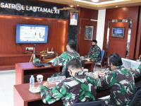 KOMANDAN LANTAMAL XII PONTIANAK MELAKSANAKAN KEGIATAN VICON FOCUS GRUP DISCUSSION (FGD) BESAMA KEPALA STAF TNI ANGKATAN LAUT