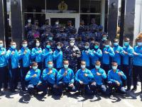 Komandan Lantamal XII Secara Resmi Melepas Calon Bintara Pria/Wanita TA. 2021 Panda Pontianak Untuk Mengikuti Test Panpus DI Lapetal Malang