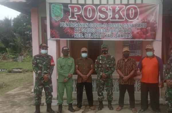 Bentuk Posko Check Point, Upaya Kodim Sambas Perangi Covid-19