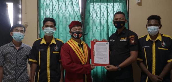 Humas Polres Kubu Raya Terima Kunjungan DPC Perhimpunan Mahasiswa Katolik Republik Indonesia Cab.Sungai Raya