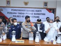 Empat Kilogram BB Dimusnahkan Polresta Tangerang Polda Banten Bersama Unsur Forkopimda Kabupaten Tangerang