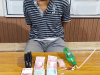 Seorang Pria Pemilik Narkoba Jenis Sabu Diamankan Tim Serbu Polsek Sebulu