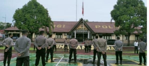 Gelar Apel Siaga, Kabag Operasi Polres Melawi TNI-Polri dan Instansi Terkait Akan Antisipasi Kerumunan di Melawi