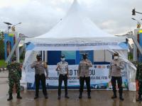 Polsek Sungai Ambawang Buka Posko Penyekatan Mudik Lebaran Di Terminal Antar Lintas Batas Negara