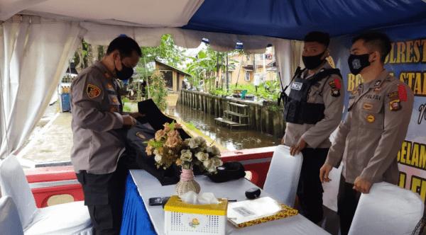 Akp Prayitno Kapolsek Pontianak Timur Cek Kesiapan Petugas Pos Pam Ketupat Diwilayahnya