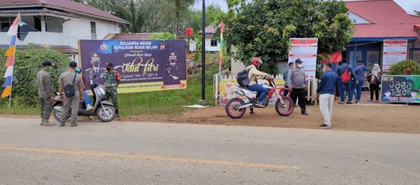 Pos Penyekatan Terpadu Polri dan TNI Pol, PP Dinas Perhubungan dan BPBD Cegah Harus Mudik Perbatasan Melawi
