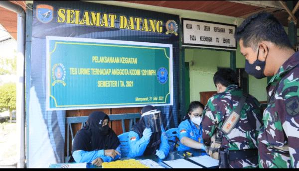 Tes Urine Mendadak, 45 Prajurit Kodim 1201/Mph Bersih Narkoba