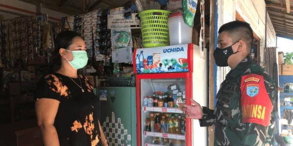 Pendisiplinan Protokol Kesehatan Kepada Warga Desa Karamuan