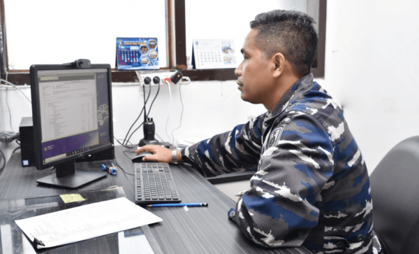 STTAL ikuti Bimtek Aplikasi SBK Bidang Pendidikan Kewasgiatan Spersal TA. 2022