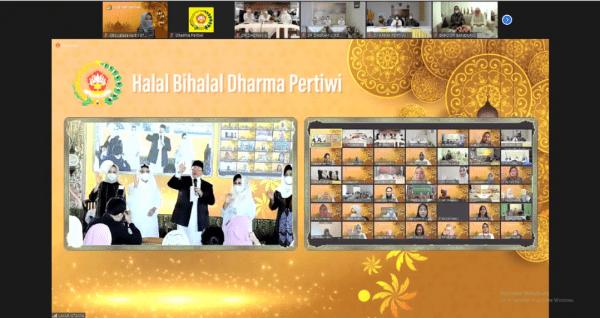 Ketua Cabang BS Jalasenastri STTAL Halal Bihalal bersama Ketua Dharma Pertiwi Secara Virtual.