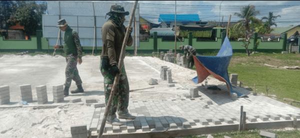 Kodim 1201/Mph Rampungkan pembangunan lapangan voli