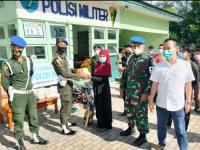 Tali Asih Subdenpom XII/1-1 Singkawang Berbagi Sembako untuk Warga