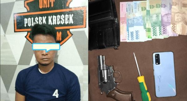 Polresta Tangerang Membekuk Seorang Pria Curi HP dan Miliki Air Softgun