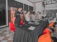 Wakapolres Kubu Raya kompol Sandhy Pimpin Press Release, Ungkap 3 kasus Narkoba Dan 2 Kasus Pidana Curat Dan Cabul