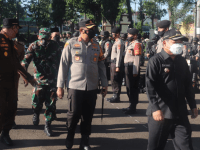 Apel Gelar Pasukan Pengamanan Pilkades Serentak di Kabupaten Garut